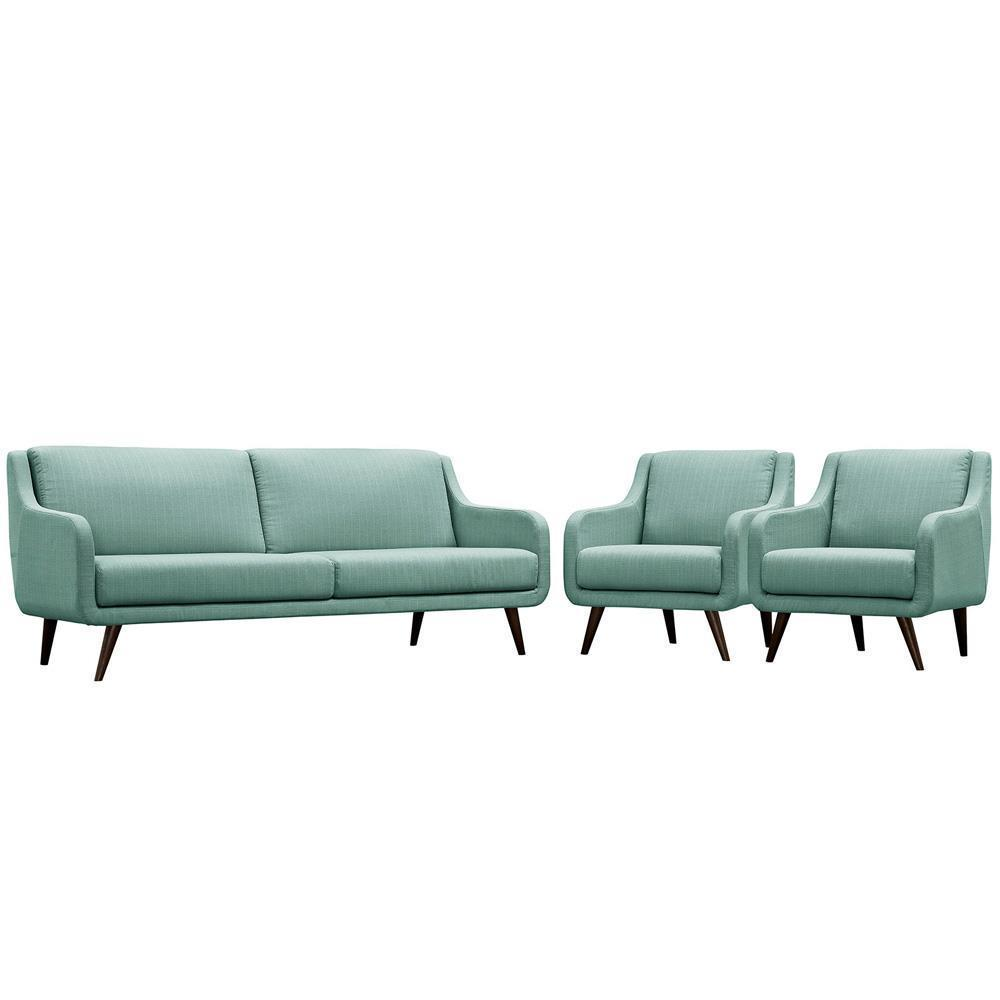 Modway Verve Living Room Set Set of 3 - Laguna