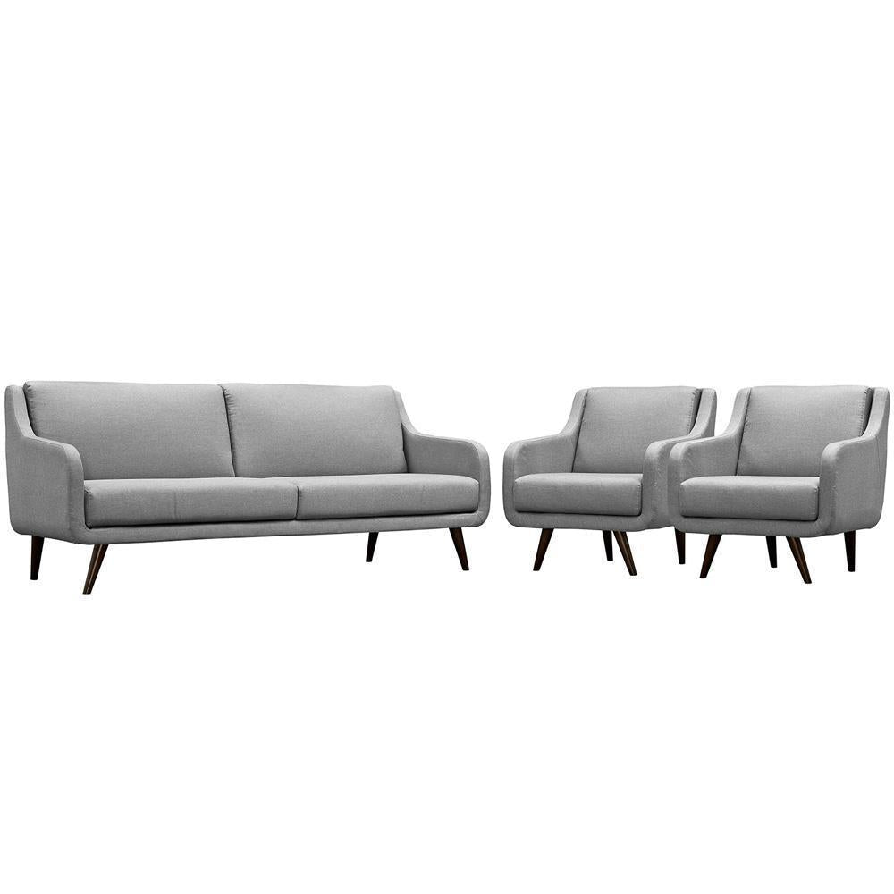 Modway Verve Living Room Set Set of 3 - Light Gray
