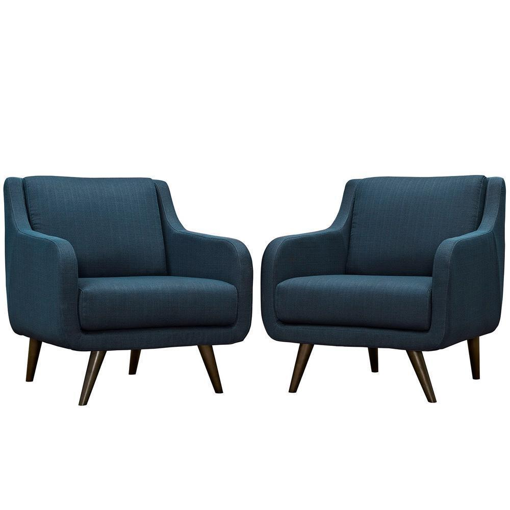 Modway Verve Armchairs Set of 2 - Azure