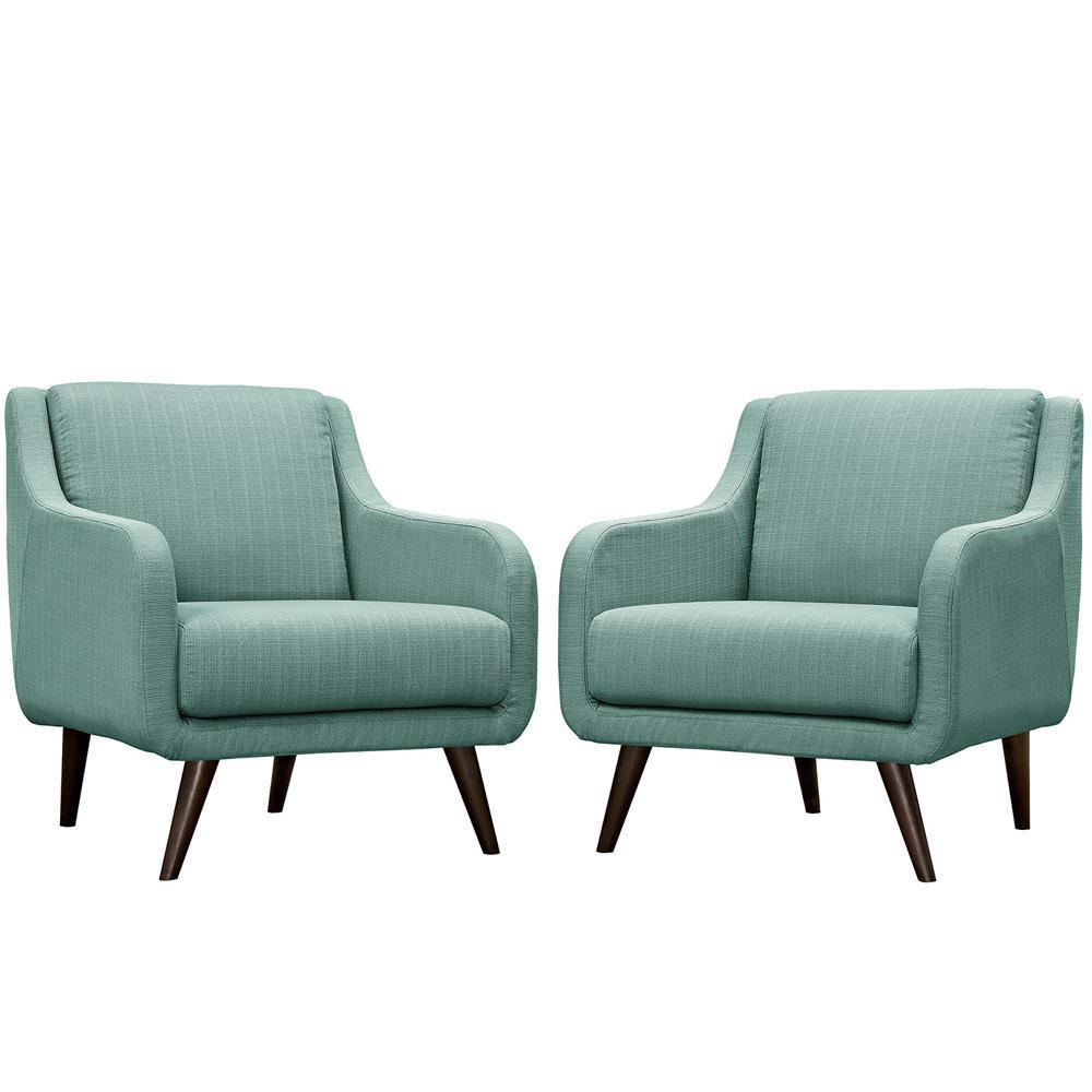 Modway Verve Armchairs Set of 2 - Laguna