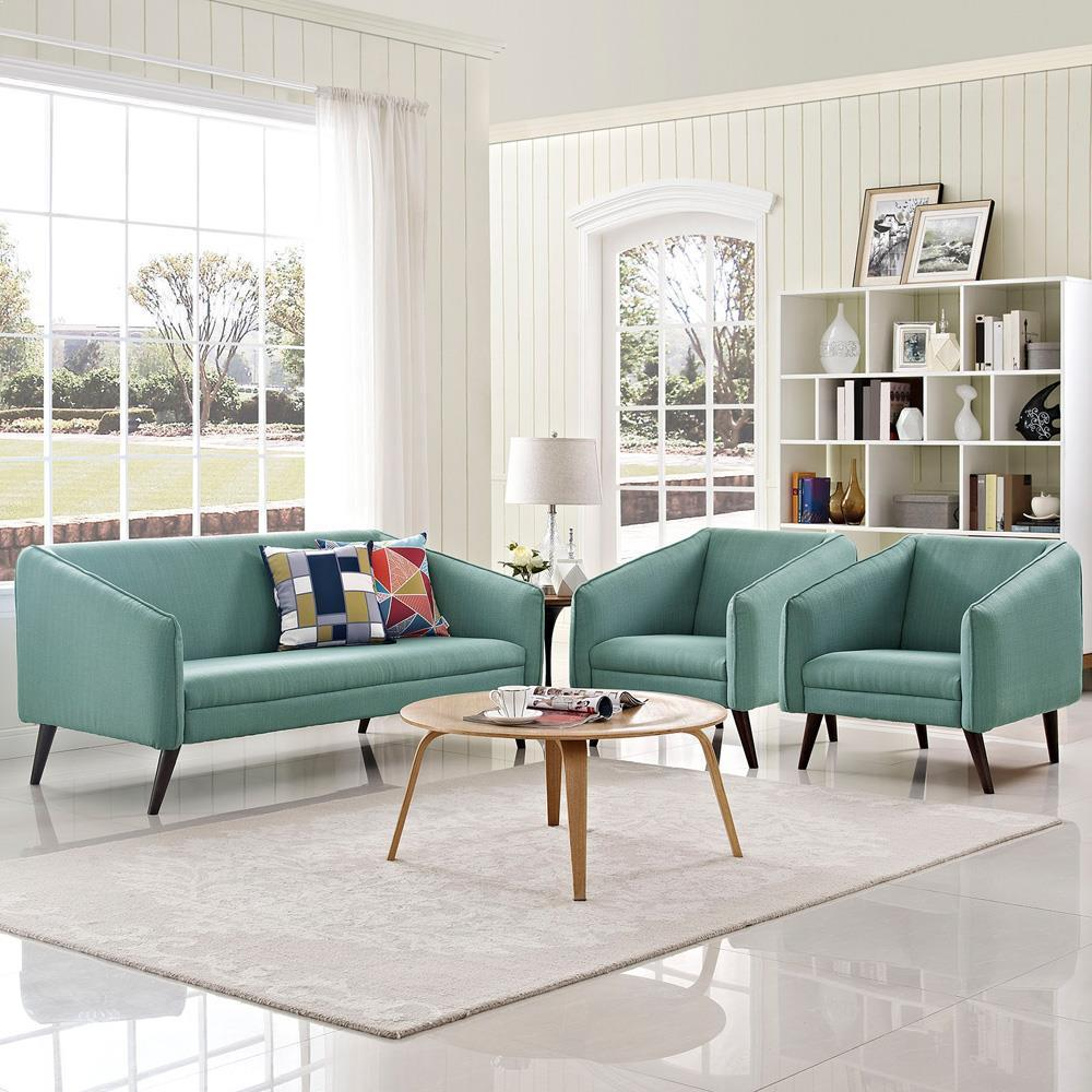 Modway Slide Living Room Set Set of 3 - Laguna