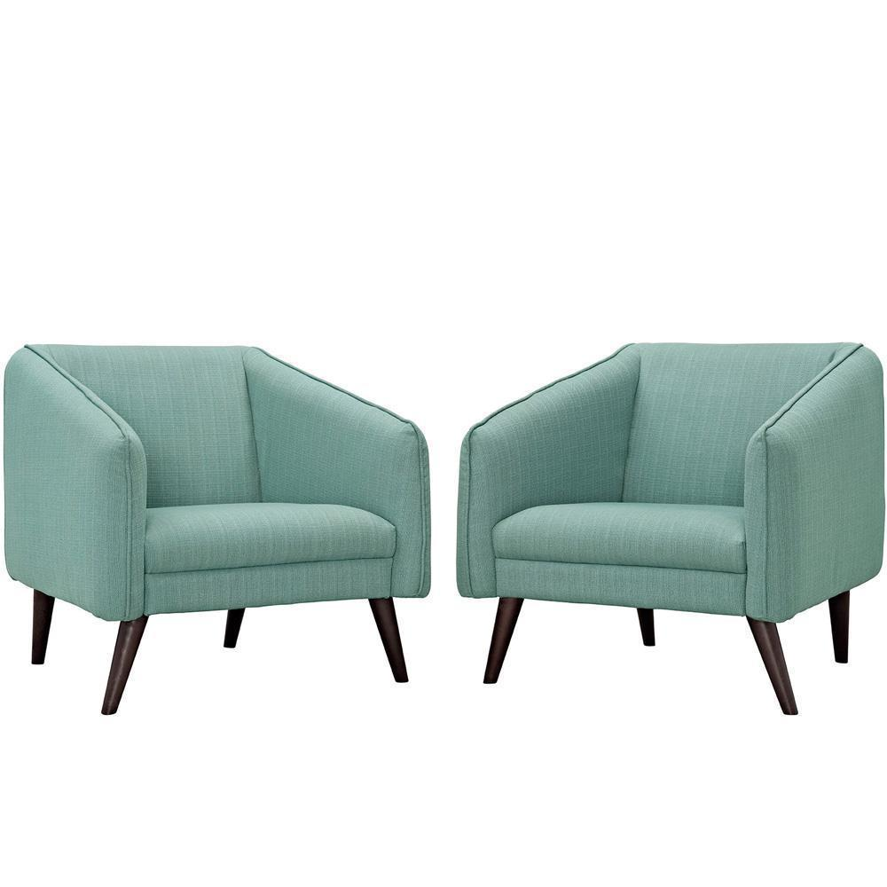 Modway Slide Armchairs Set of 2 - Laguna
