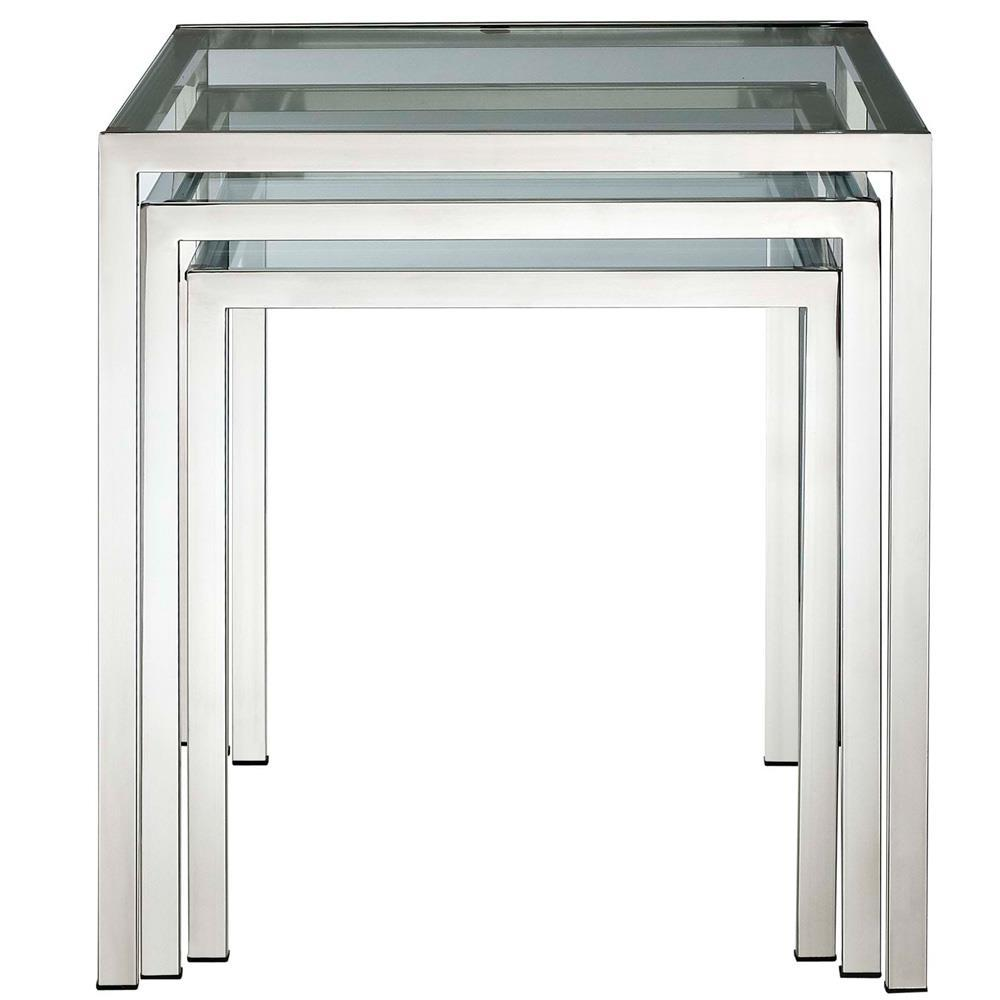 Modway Nimble Nesting Table - Silver