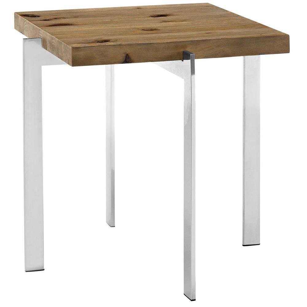 Modway Diverge Wood Side Table - Brown