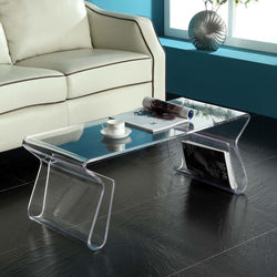 Modway Magazine Acrylic Coffee Table - Clear