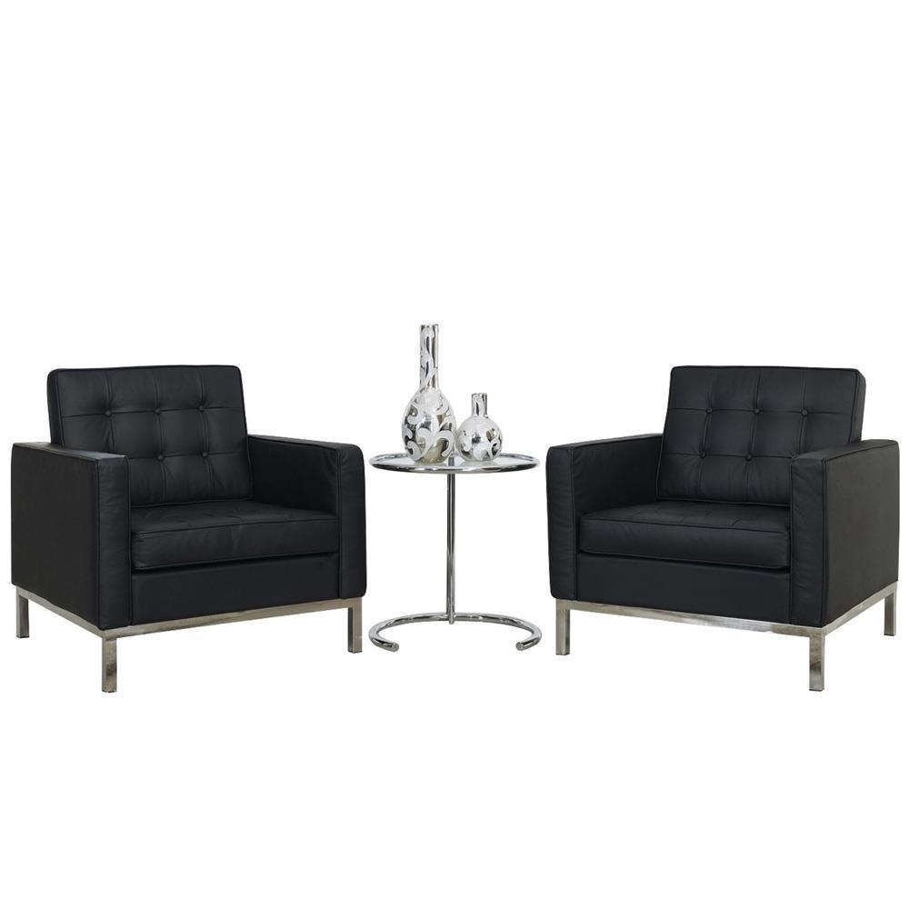 Modway Loft 3 Piece Sofa Set - Black