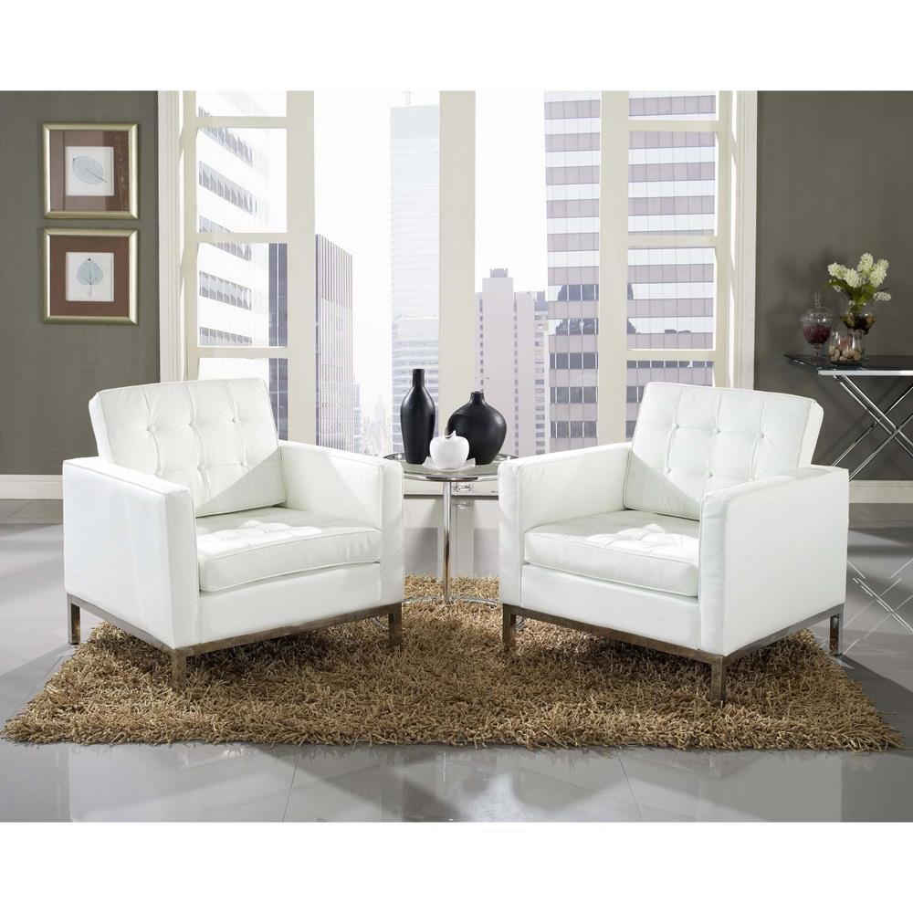 Modway Loft 3 Piece Sofa Set - White