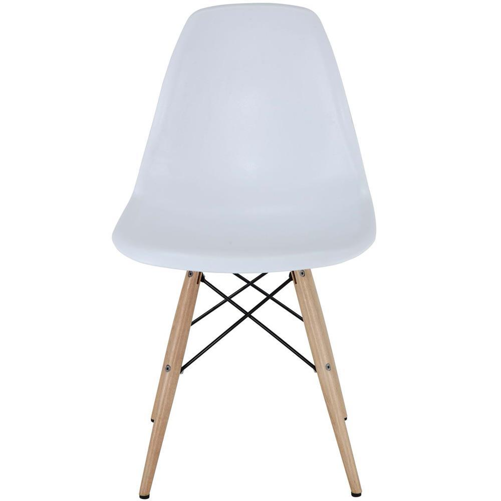Modway Pyramid Dining Side Chairs Set of 2 - White