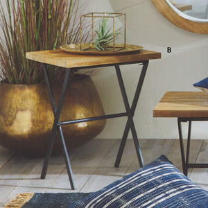 Roost Folding Saal Wood Side Tables