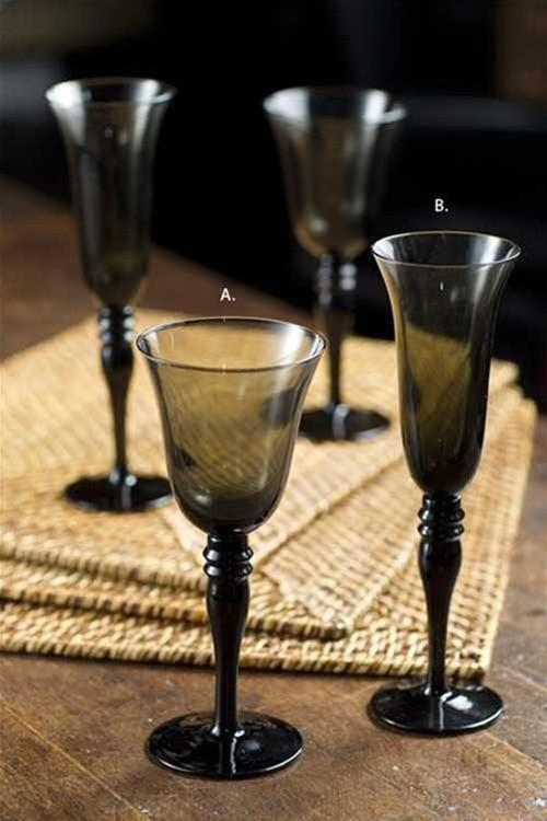 Vagabond Vintage Champagne / Wine Glass in Smoke - Set of 6