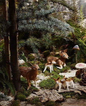 Roost Deer Family Felt Ornaments - Set Of 5