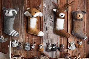 Roost Wooly Wildlife Stockings & Pouch Ornaments