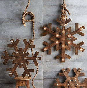 Roost Wood Snowflake Lights