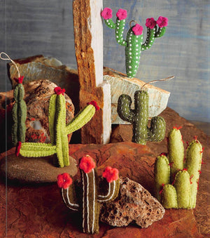 Roost Cactus Felt Ornaments - Set Of 12