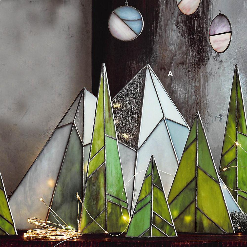 Roost Stained Glass Mountainscape