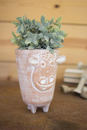Kalalou Clay Sheep Planter