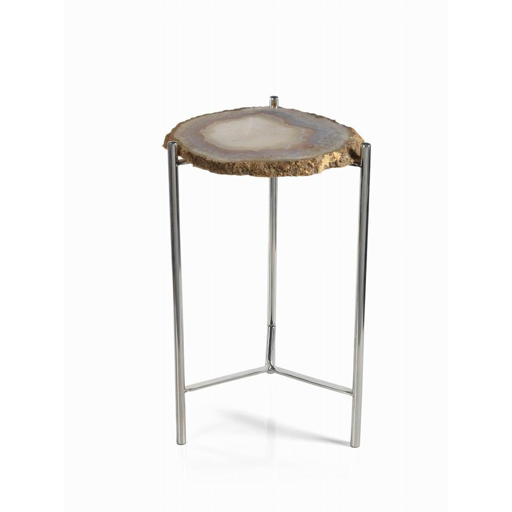 Zodax Savona 21-Inch Tall Agate Accent Table