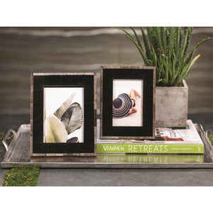 Zodax Palm Desert Chiseled Horn Photo Frame