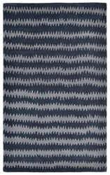 Inca Ikat Chevron Denim Indoor Rug