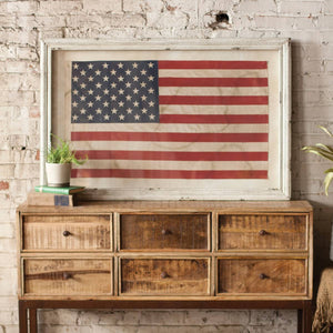 Kalalou Framed American Flag- Large