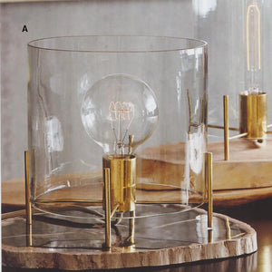 Roost Brass Cylinder Lamps