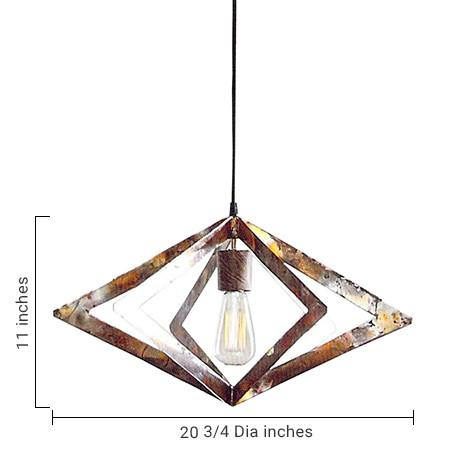 Roost Copper Pendant Lamp - Diamond Wide