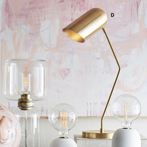 Roost Incline Brass Table Lamps