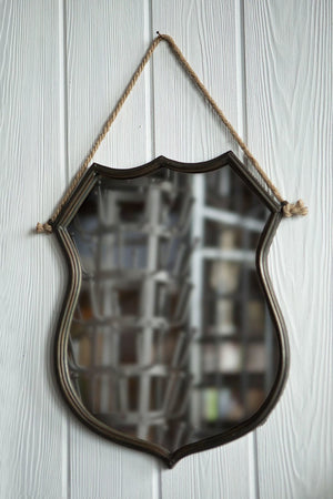 Vagabond Vintage Iron Shield Frame Mirror