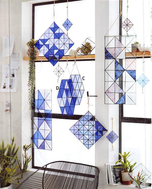 Roost Hexagon Stinson Stained Glass - Set Of 2