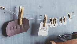 Roost Brass Clothespins & Display Cable