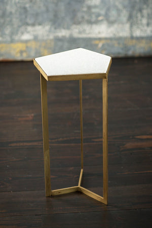 Vagabond Vintage Iron Table with Marble Top III