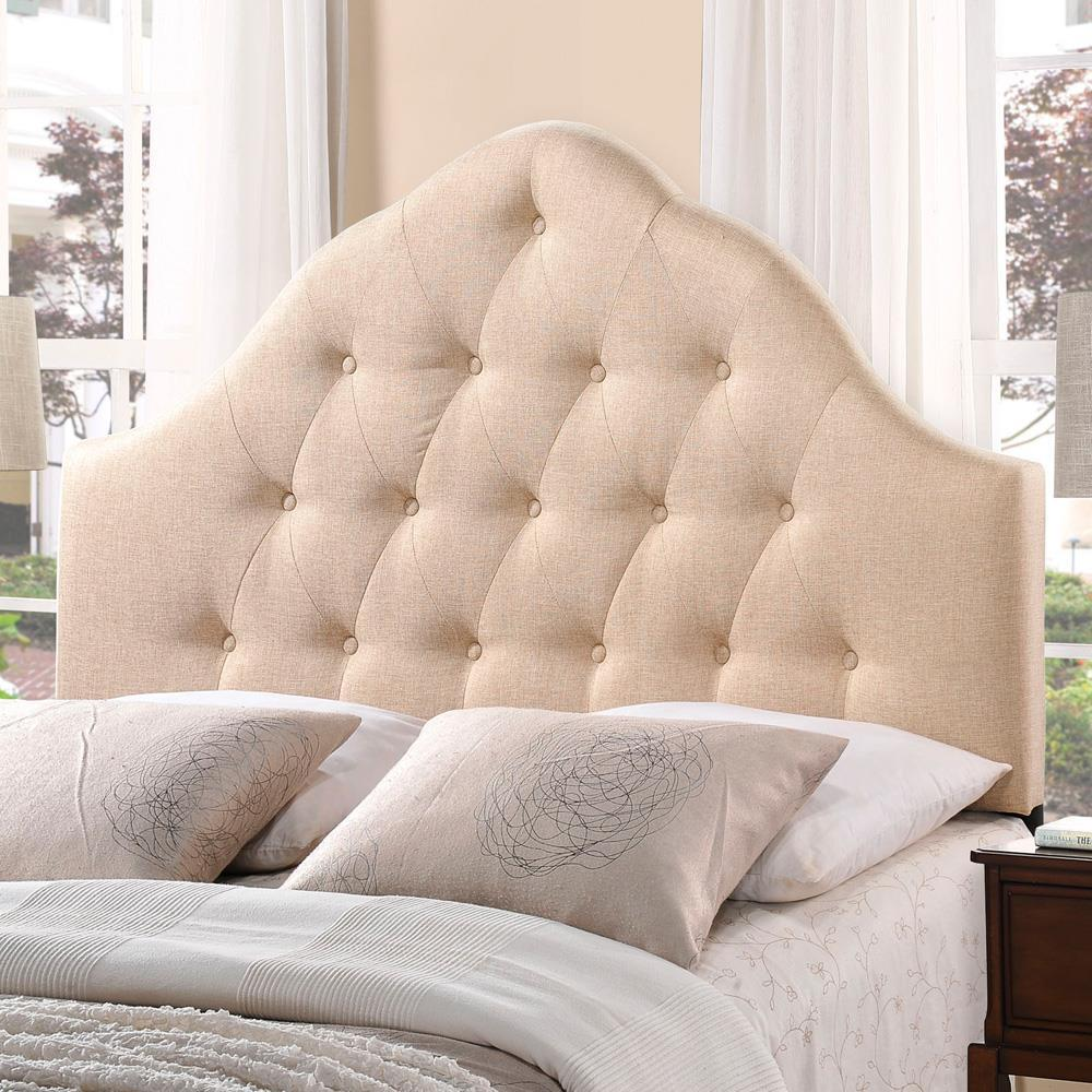 Modway Sovereign King Upholstered Fabric Headboard - Beige