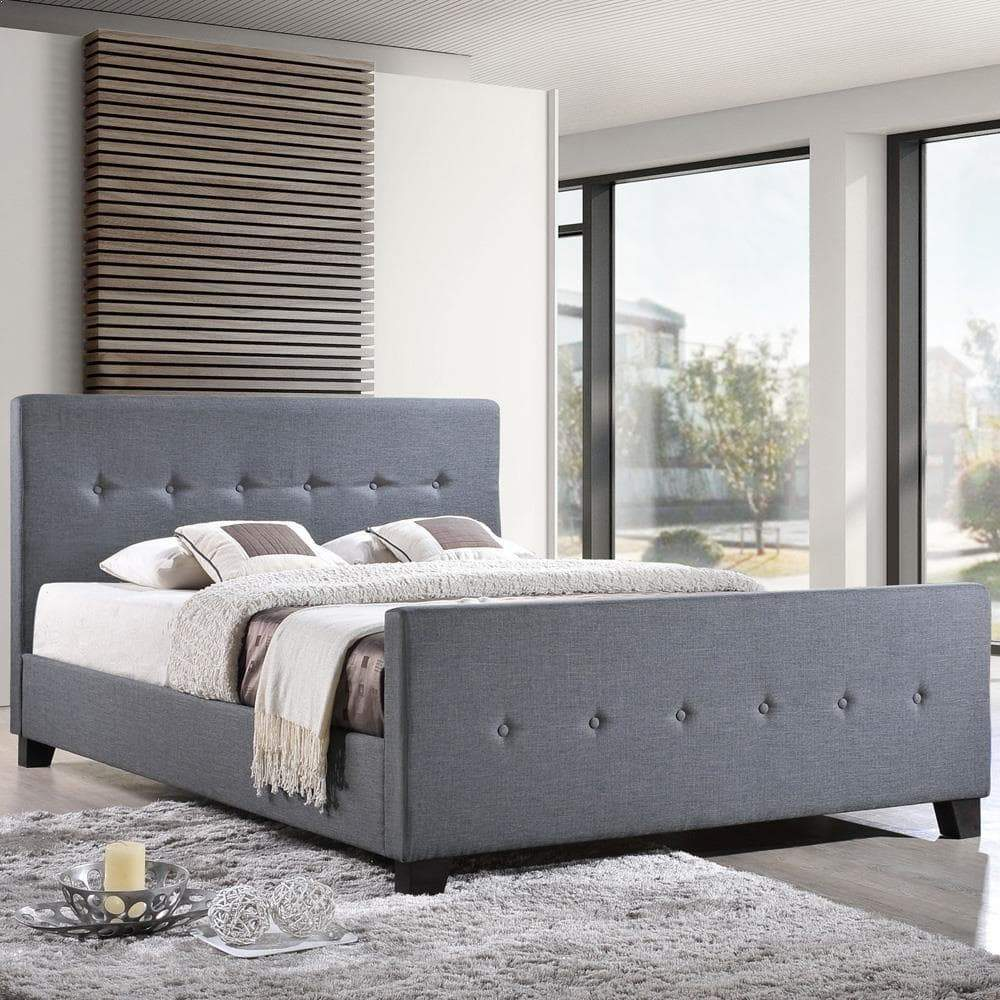 Modway Abigail King Bed - Smoke