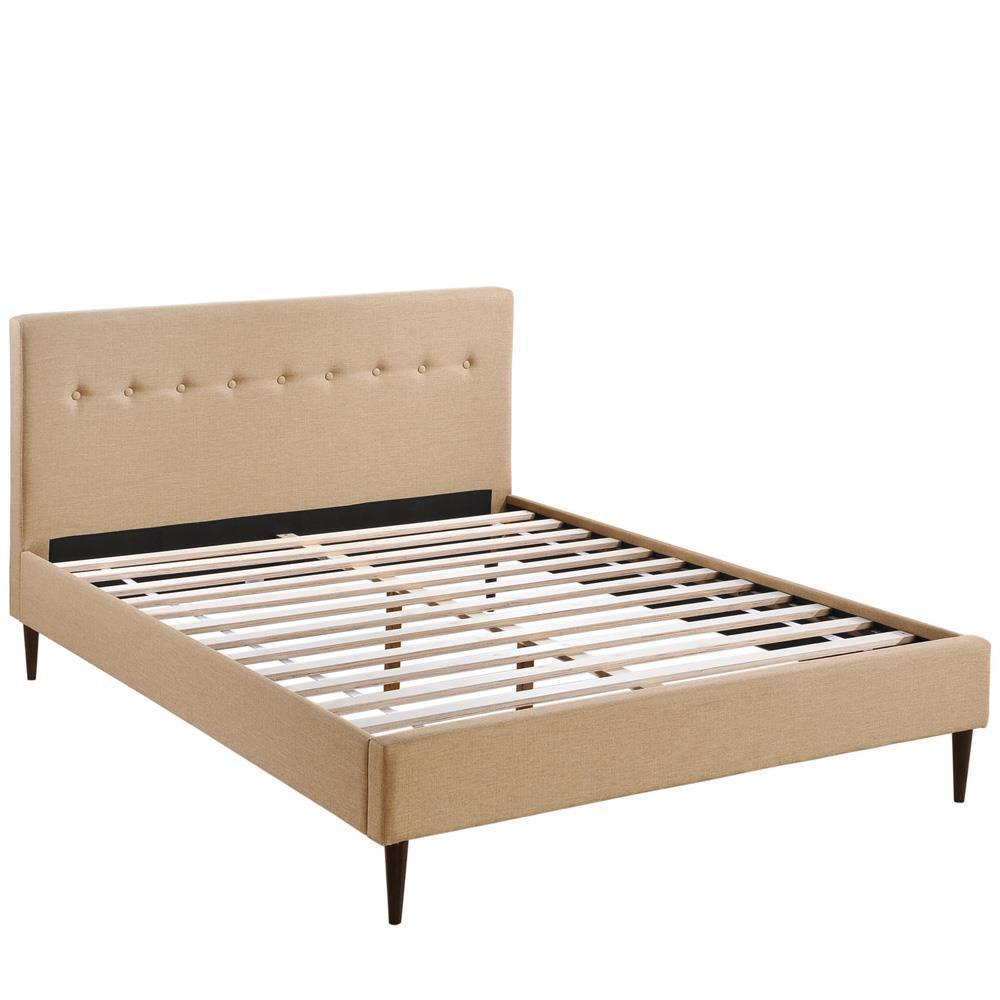 Modway Stacy Queen Bed - Cafe