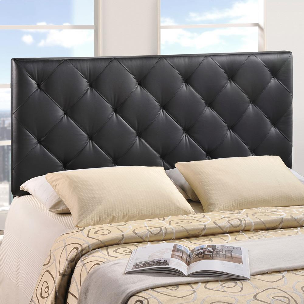 Modway Theodore Twin Upholstered Vinyl Headboard - Black