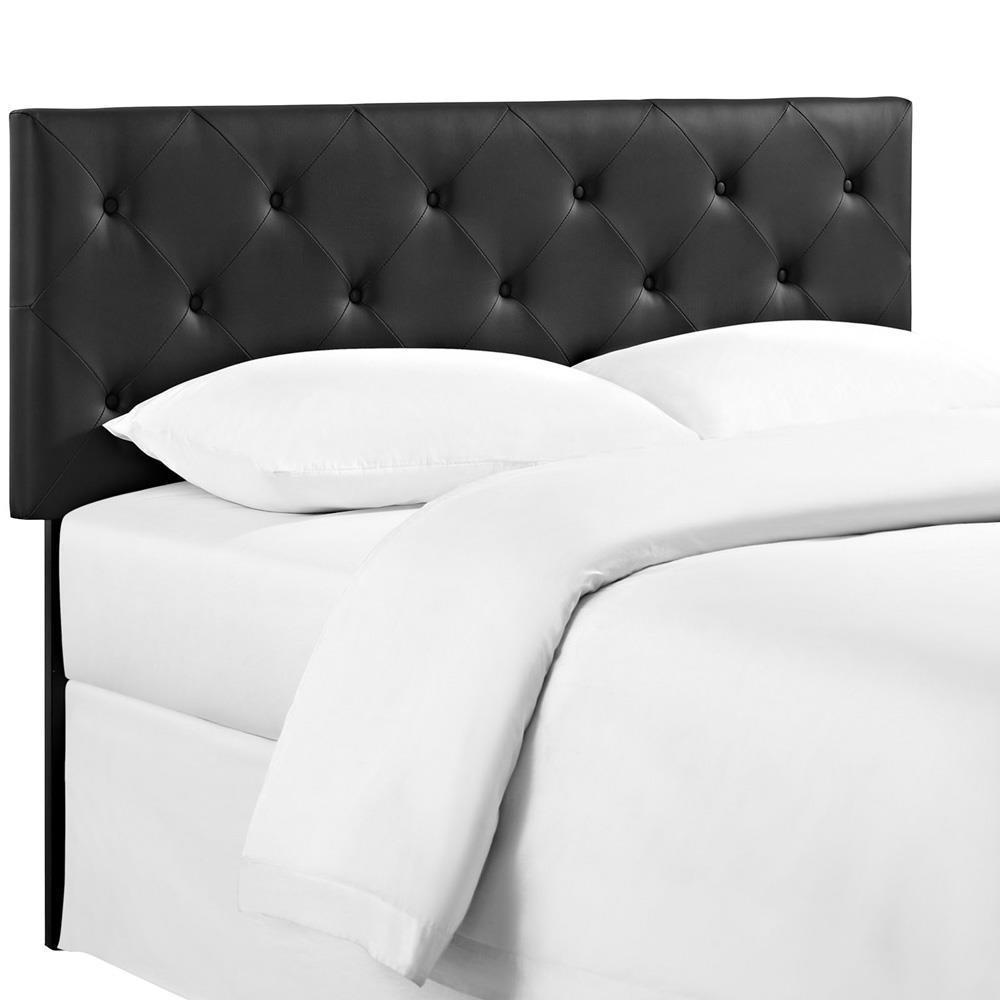 Modway Terisa Queen Upholstered Vinyl Headboard - Black