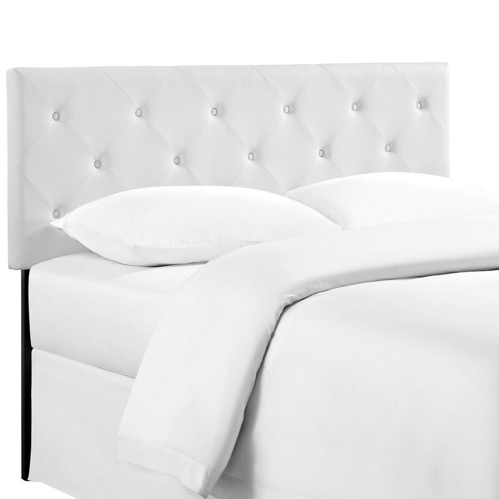 Modway Terisa Queen Upholstered Vinyl Headboard - White