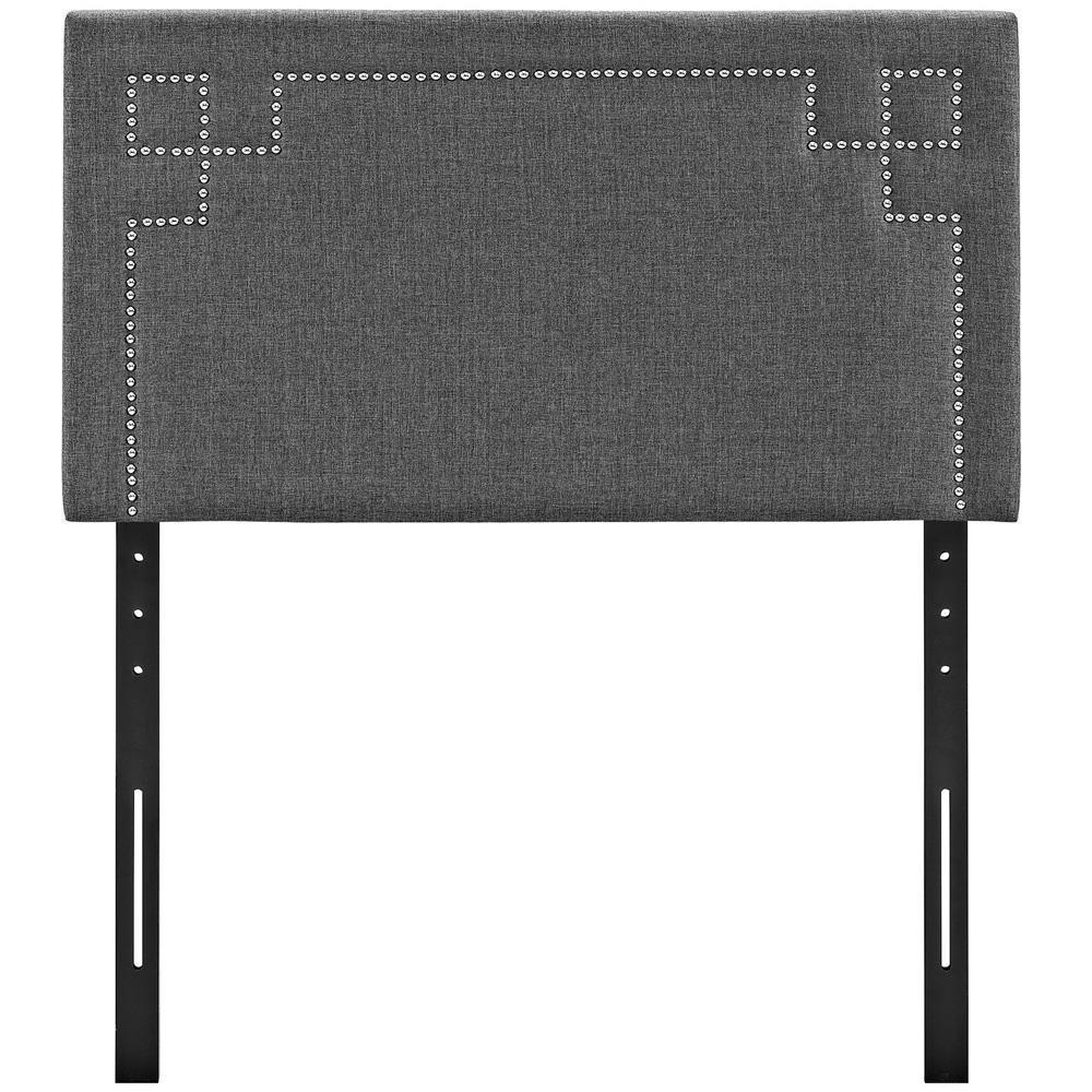 Modway Josie Twin Upholstered Fabric Headboard - Gray