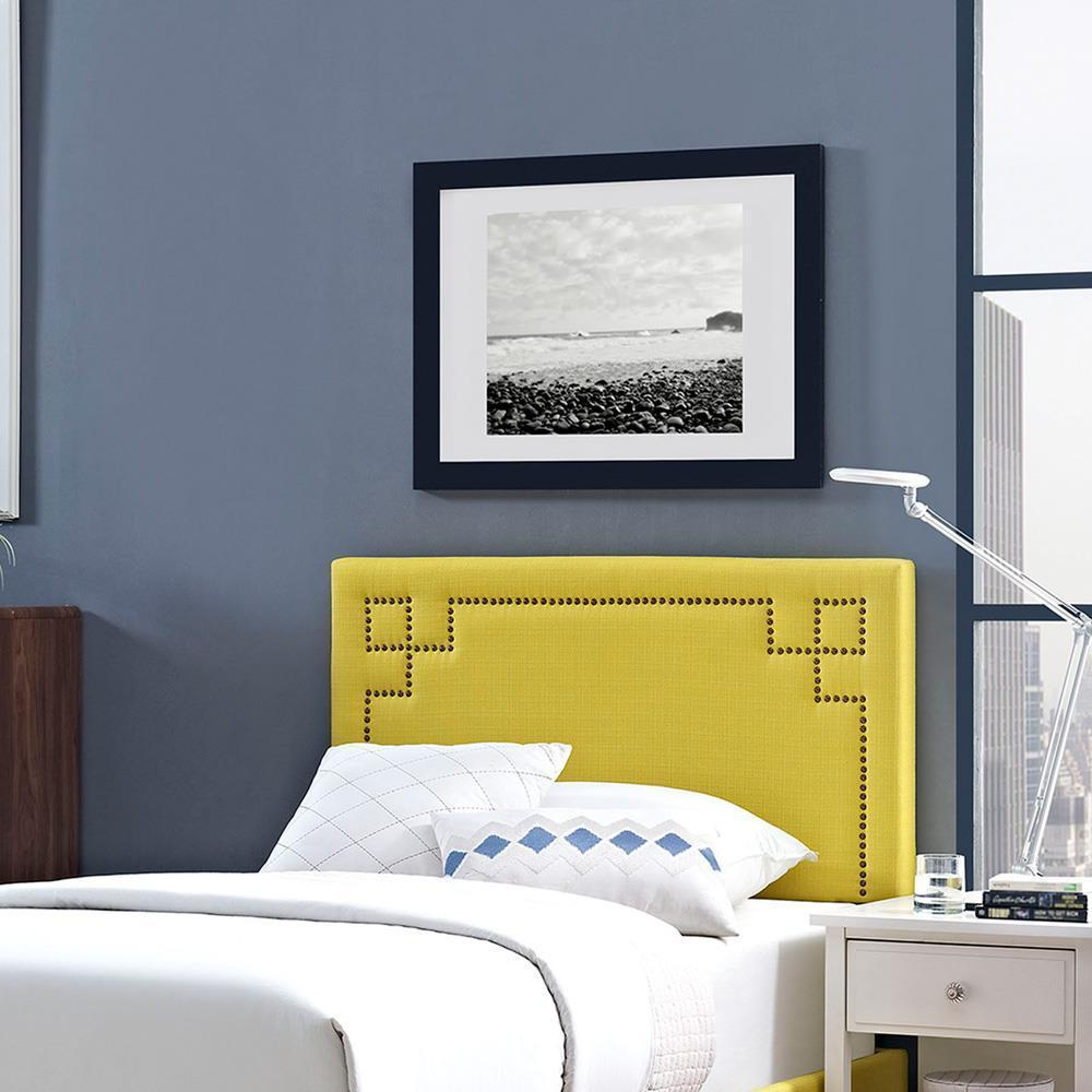 Modway Josie Twin Upholstered Fabric Headboard - Sunny
