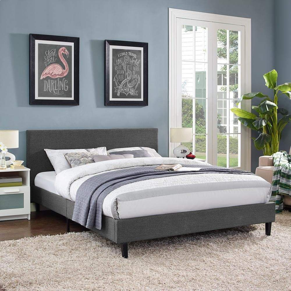 Modway Anya Queen Bed - Gray
