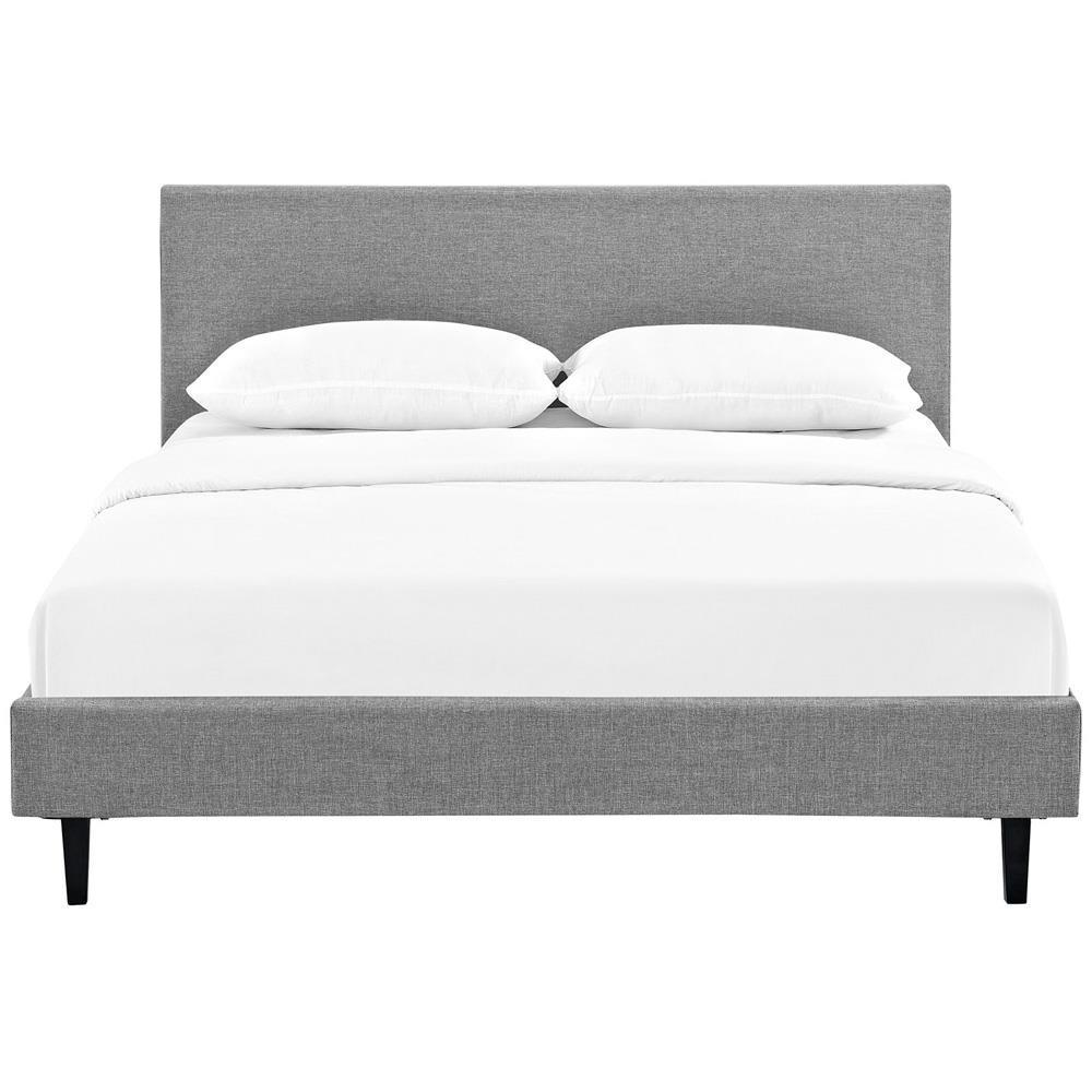 Modway Anya Queen Bed - Light Gray