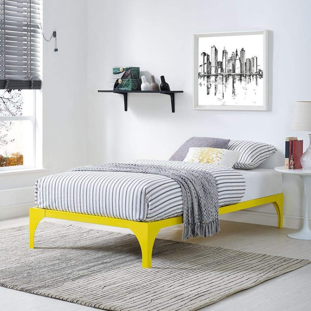 Modway Ollie Twin Bed Frame - Yellow