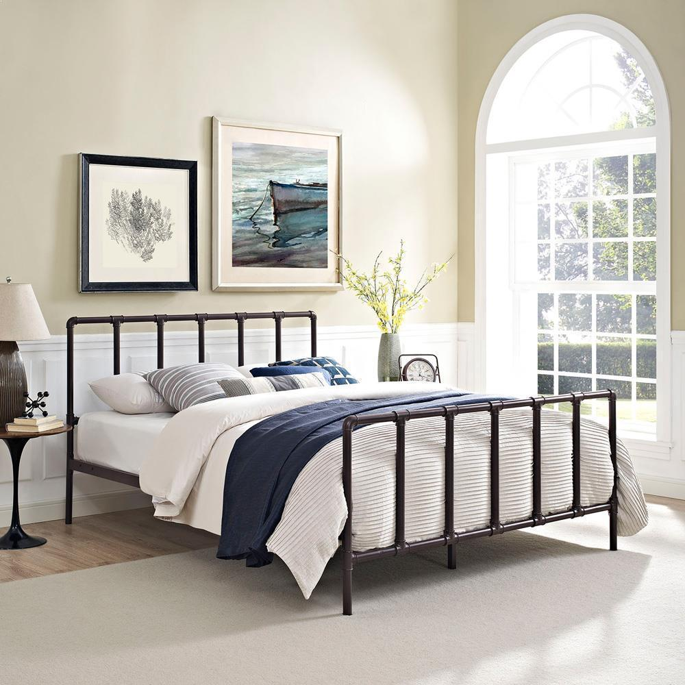 Modway Dower Full Bed - Brown