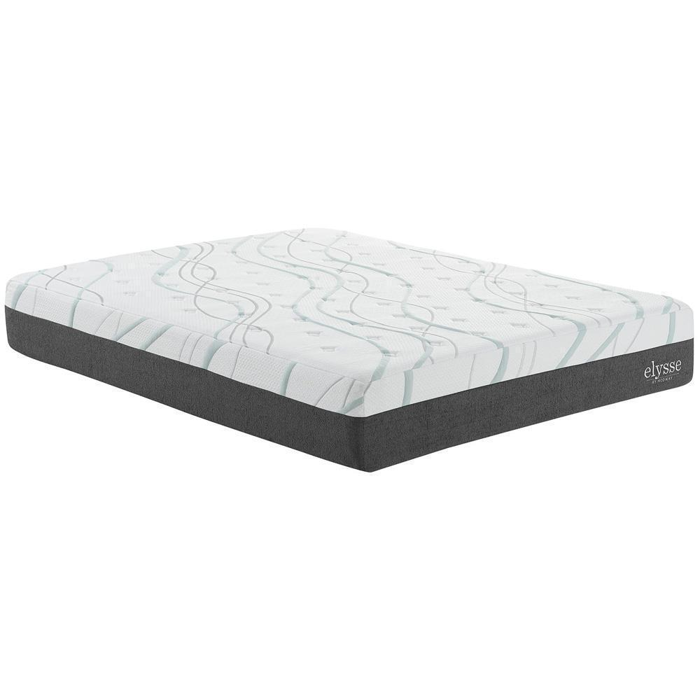"Modway Elysse Full CertiPUR-US Certified Foam 12"" Gel Infused Hybrid Mattress - White"