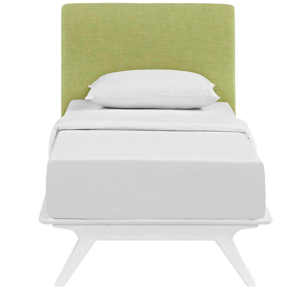Modway Tracy Twin Bed - White Green