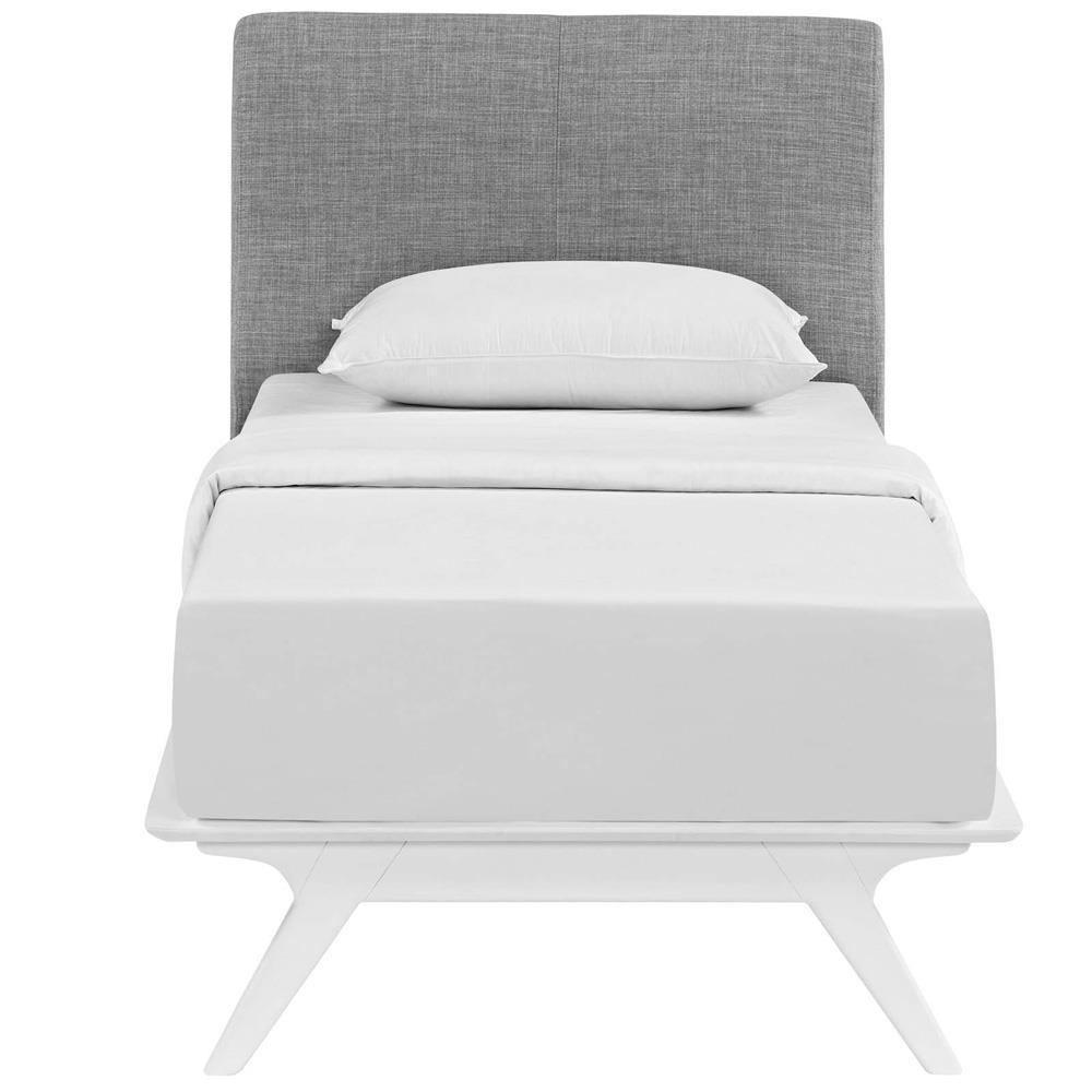 Modway Tracy Twin Bed - White Gray