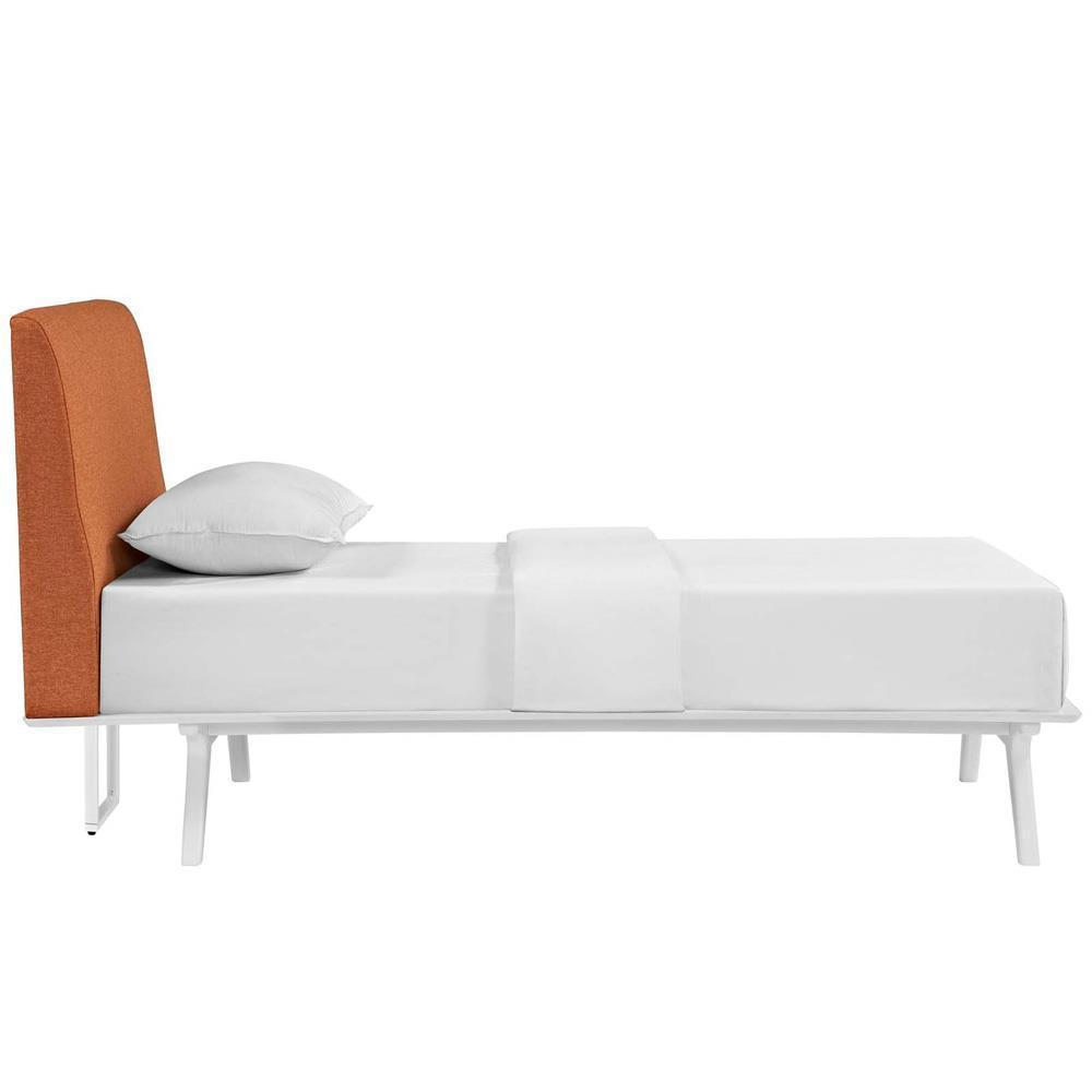 Modway Tracy Twin Bed - White Orange