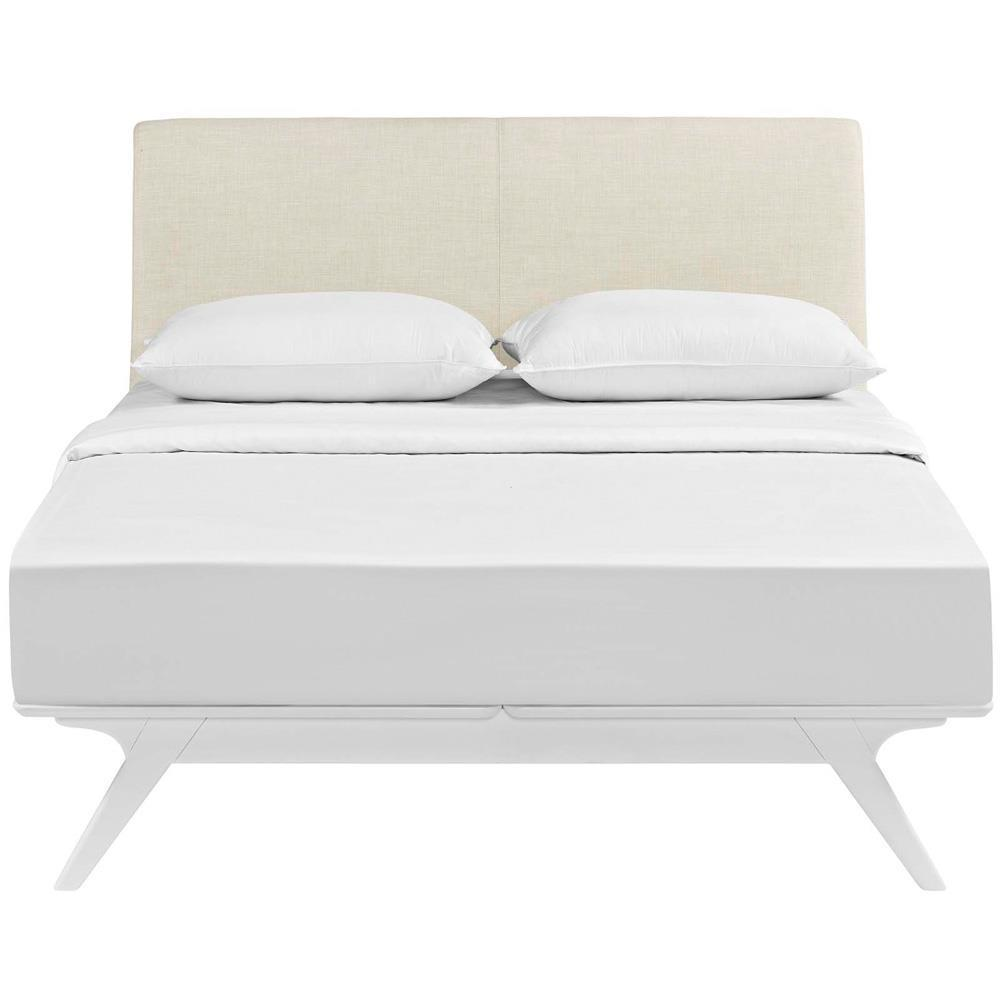 Modway Tracy Full Bed - White Beige