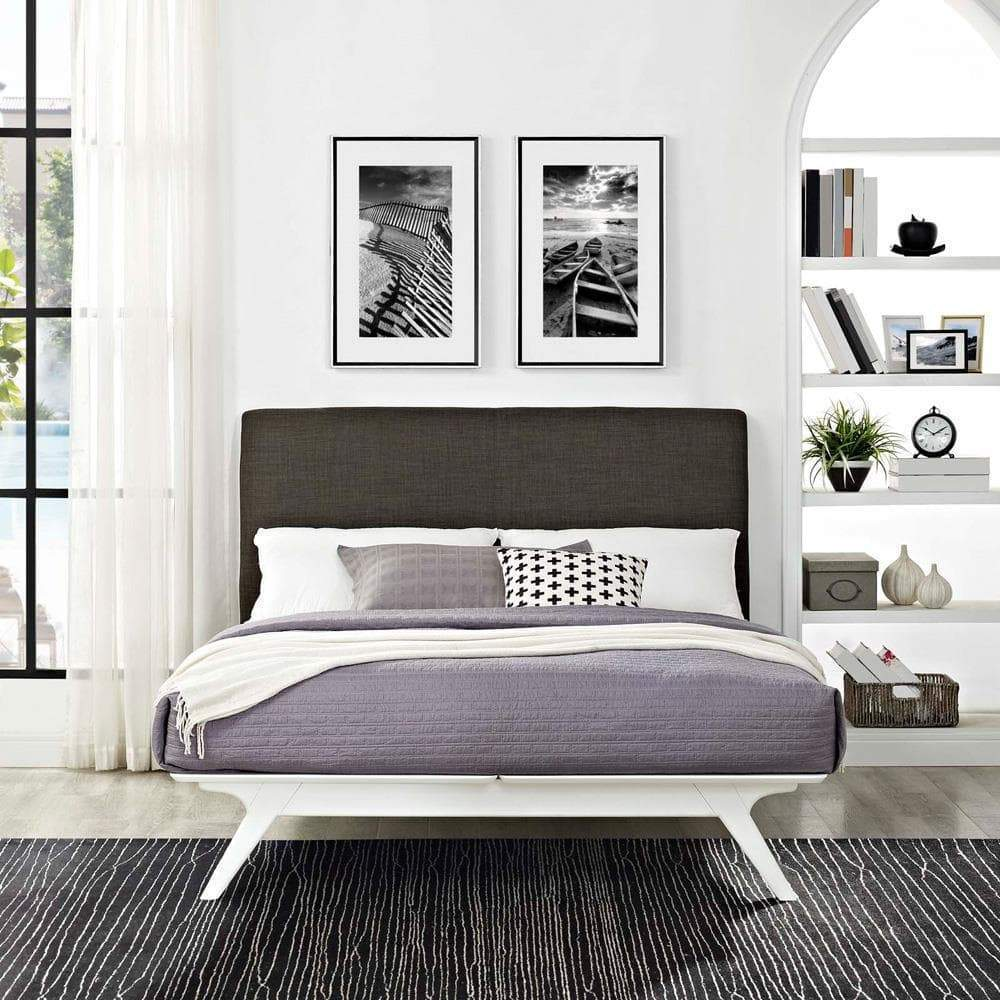 Modway Tracy Full Bed - White Brown