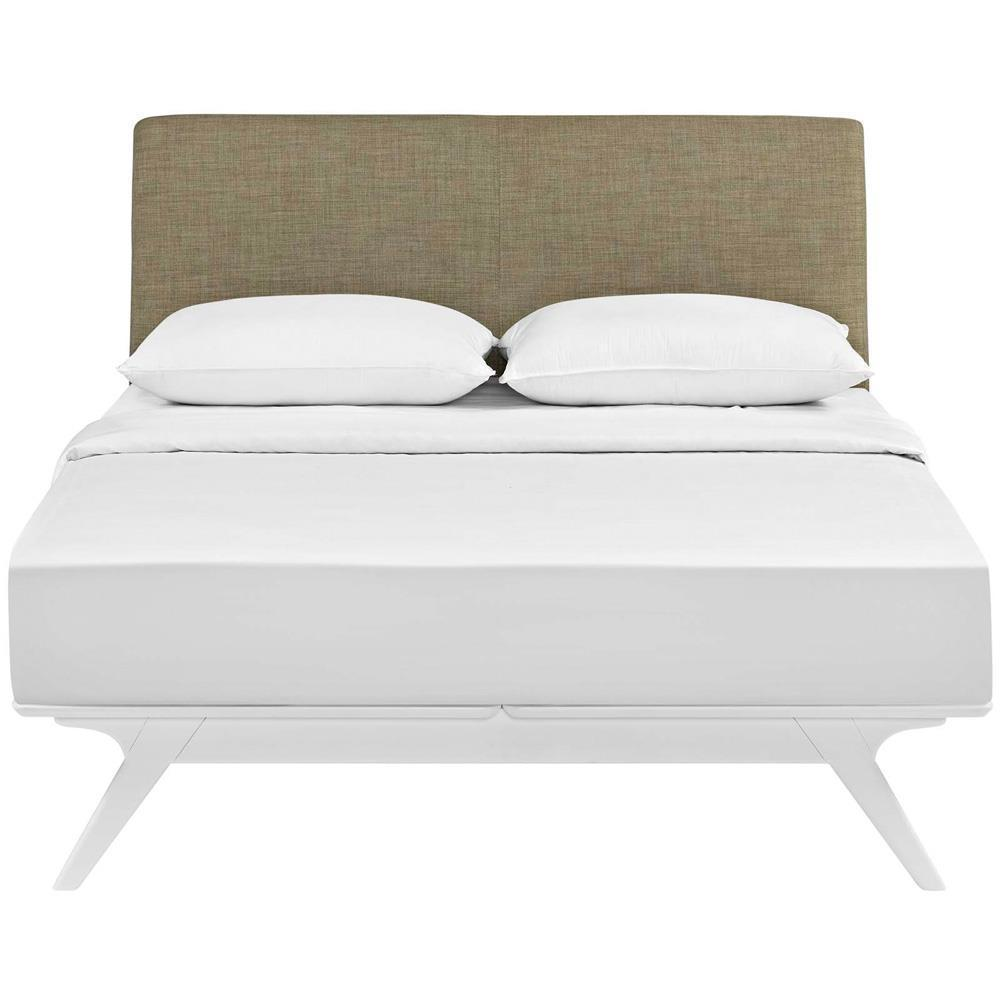 Modway Tracy Full Bed - White Latte
